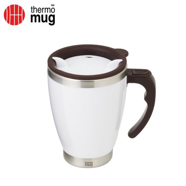 thermo mug サーモマグ ラウンドマグ 400ml ホワイト