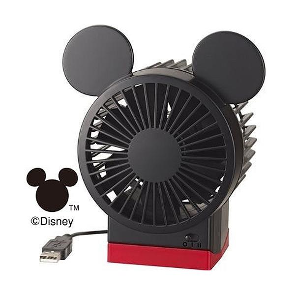 2段風量 角度調整付USB ファン 扇風機 Disney ミッキー