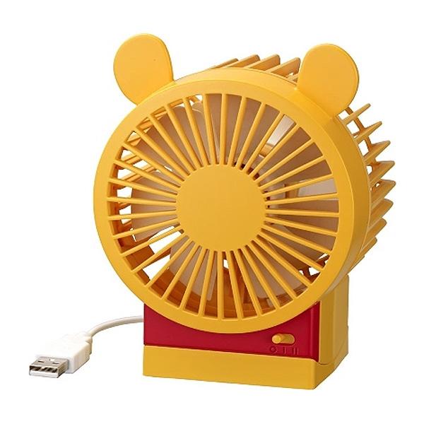 2段風量 角度調整付USB ファン 扇風機 Disney プーさん