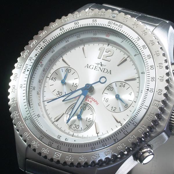 アジェンダ AGENDA 腕時計 クロノグラフ AG-8038-01 (sb)【送料無料】【処分セール】