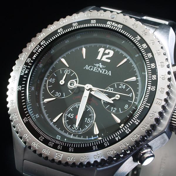 アジェンダ AGENDA 腕時計 クロノグラフ AG-8038-02 (sb)【送料無料】【処分セール】