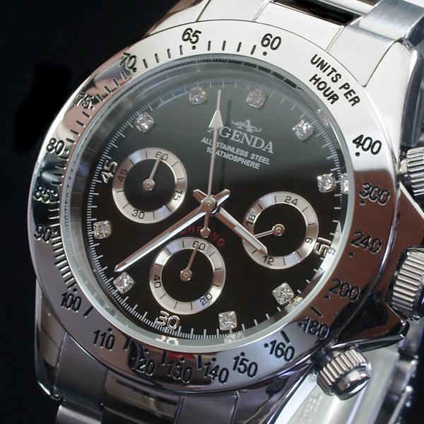 アジェンダ AGENDA 腕時計 クロノグラフ AG-8039-03(sb)【送料無料】【処分セール】