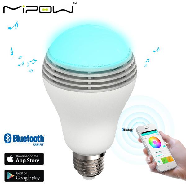 MiPow PLAY BULB スピーカー内臓 Bluetooth LED SMARTライト BTL100C (sb)【送料無料】