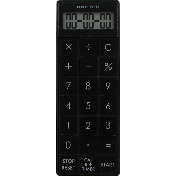 DRETEC/ドリテック 電卓付長時間タイマー ブラック CL-116BK(sb)【メール便送料無料】