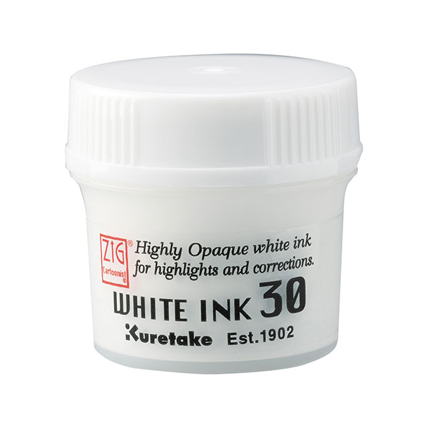 呉竹 Kuretake ZIG CARTOONIST WHITE INK 30  CNCE201-3【メール便不可】 ホワイト