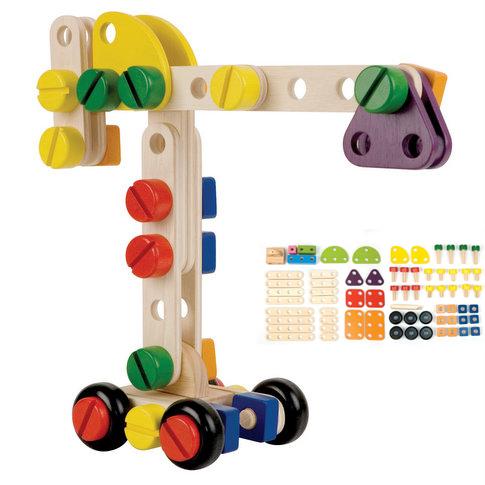 知育玩具 PINTOY ピントーイ コンストラクションセット CONSTRUCTION-SET (sb)