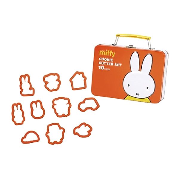 貝印 クッキー抜き型缶セット 10ピース ミッフィー DN-0104 (sb) 【送料無料】