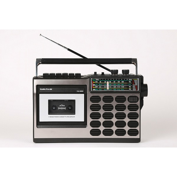 とうしょう 昭和の思い出ラジカセ TLS-8800(sb)【送料無料】